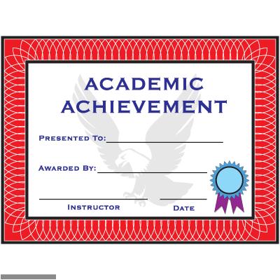 tiger claw accessories certificates academic achievement