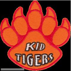 Kid Tigers Paw Print Patch